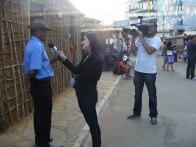 Rancho do Tropeiro, montado na Vila da Conquista, durante os festejos do Forró Pé de Serra do Periperi, organizado pela Prefeitura Municipal de Vitória da Conquista, em 2010. Em destaque o Tropeiro Zé Mosquito, concedendo entrevista à TV Sudoeste, afiliada da Rede Globo e Vitória da Conquista.