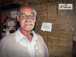 Tropeiro Antenor, em visita ao Rancho do Tropeiro em 2010.