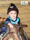 Criança montado no Silhão, no Rancho do Tropeiro em 2010.