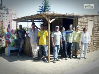 Equipe da Catrop e funcionários que montaram o Rancho do Tropeiro.
