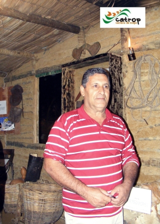 Tropeiro Crésio Lima, membro da Catrop, em visita ao Rancho do Tropeiro em 2010.