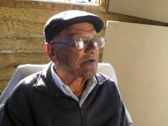 Tropeiro Canuto Rodrigues, em visita ao Rancho do Tropeiro em 2010.