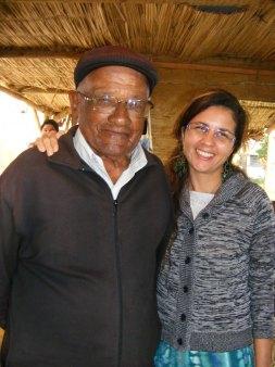 Tropeiro Canuto Rodrigues e Maris Stella, em visita ao Rancho do Tropeiro em 2010.