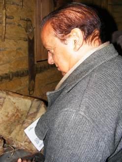 Osvaldo dos Santos Silva, sociólogo e membro da Catrop, em visita ao Rancho do Tropeiro em 2010.