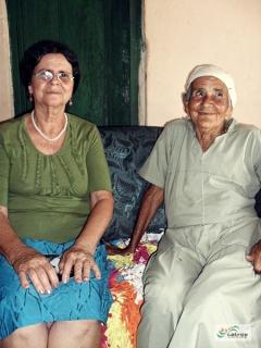 Dona Anália e Dona Ana, da região da Lagoa do Mulatinho, zona rural de Vitória da Conquista.